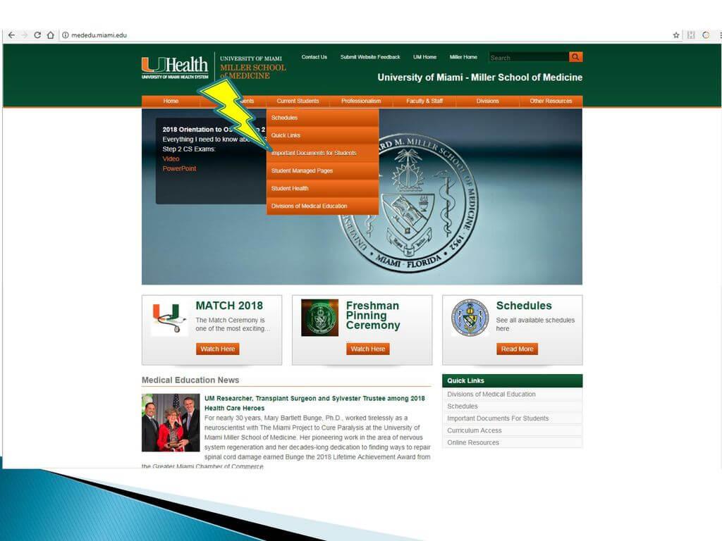 University Of Miami Miller School Of Medicine - Ppt Download Regarding University Of Miami Powerpoint Template