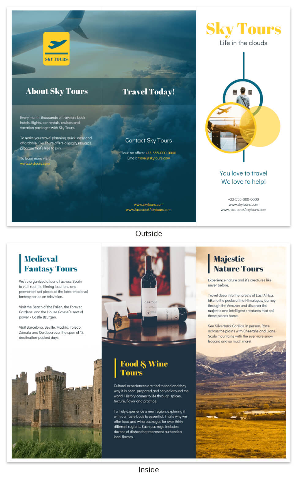 Vacation Tours Travel Tri Fold Brochure Template Within Island Brochure Template