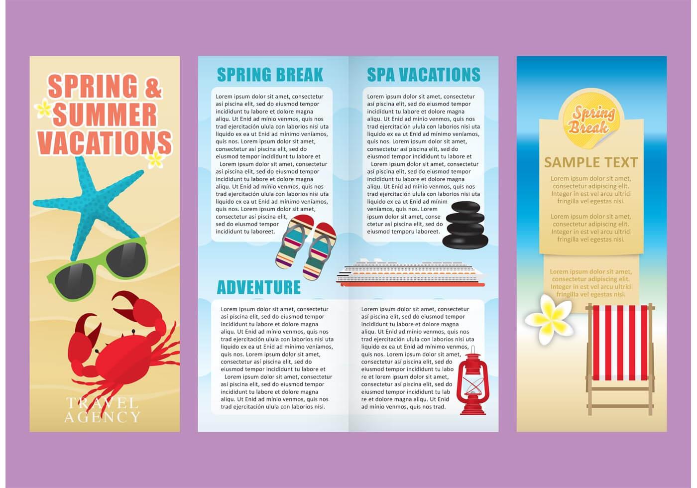 Vacations Brochure Template Vectors – Download Free Vectors Pertaining To Island Brochure Template