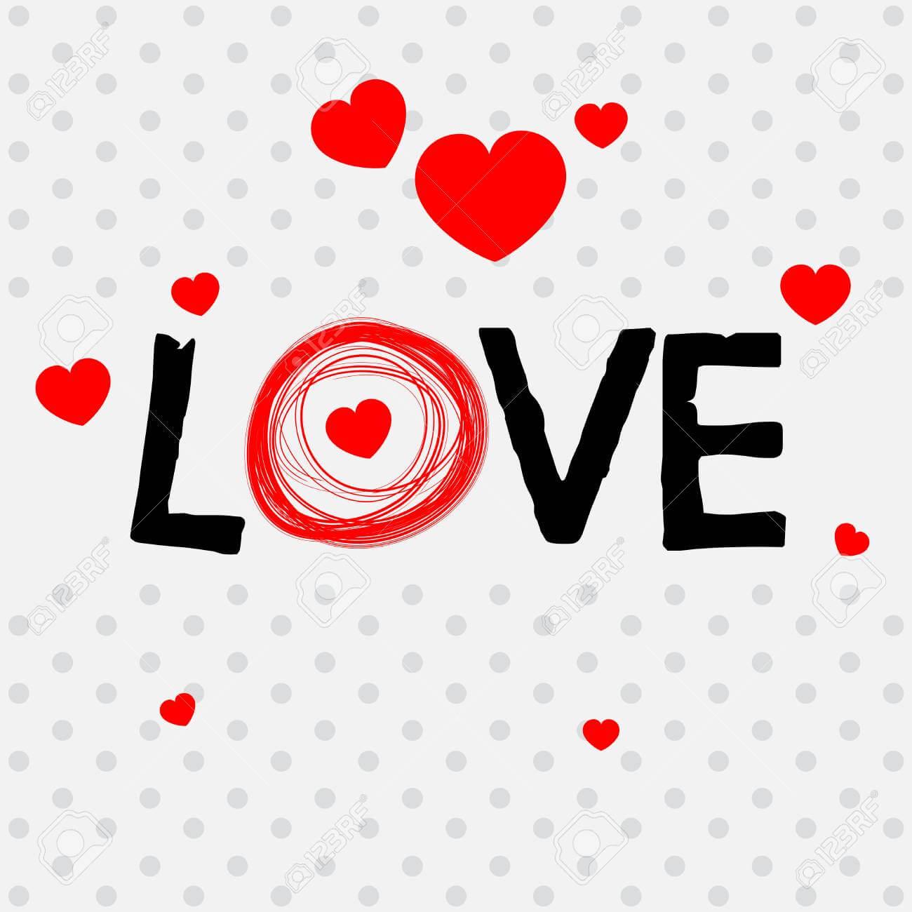 Valentine Card Template With Word Love Illustration Pertaining To Valentine Card Template Word
