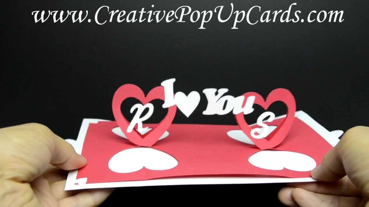 Valentines Day Pop Up Card: Twisting Hearts Inside Twisting Hearts Pop Up Card Template