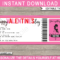 Valentine's Day Tattoo Gift Vouchers For Pink Gift Certificate Template