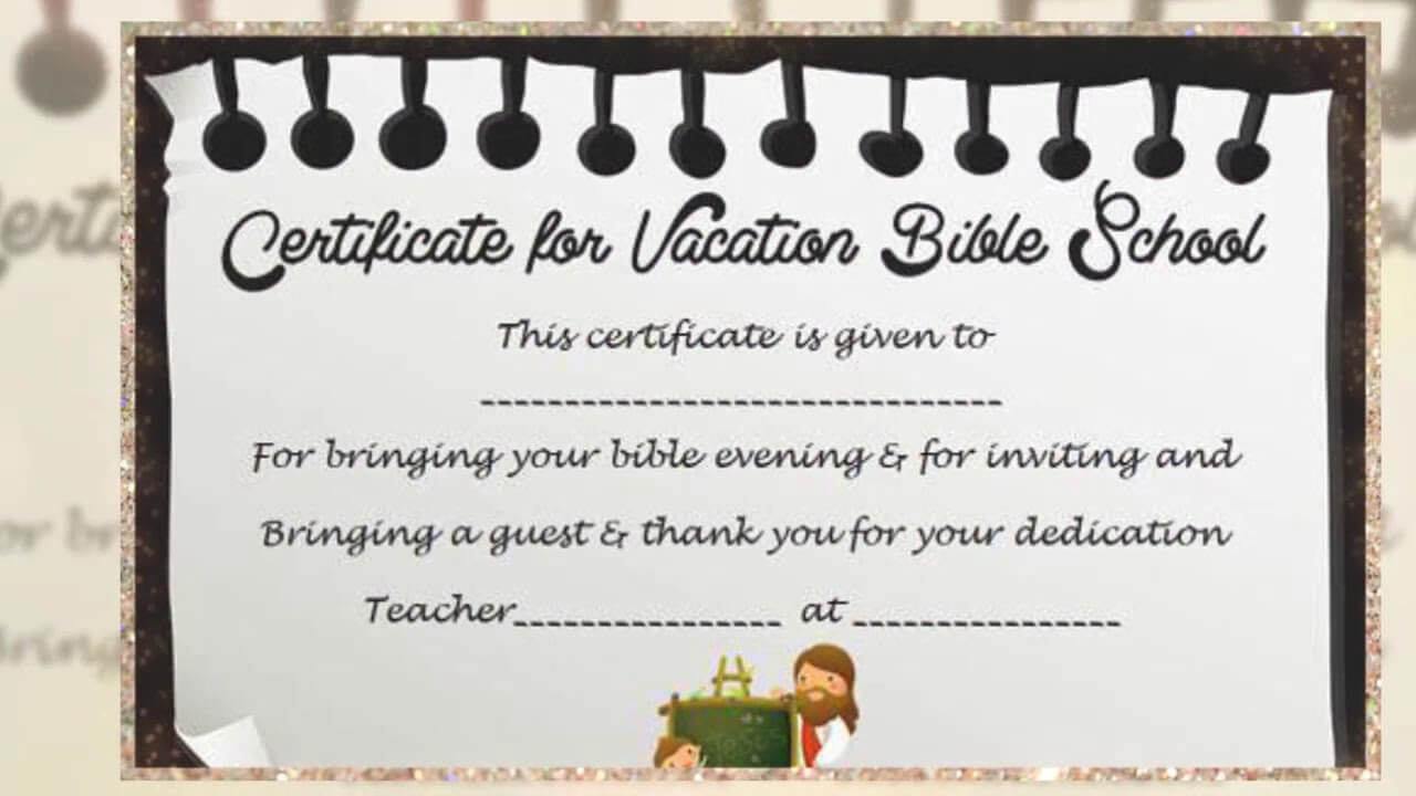 Vbs Certificate Template - Youtube Pertaining To Vbs Certificate Template