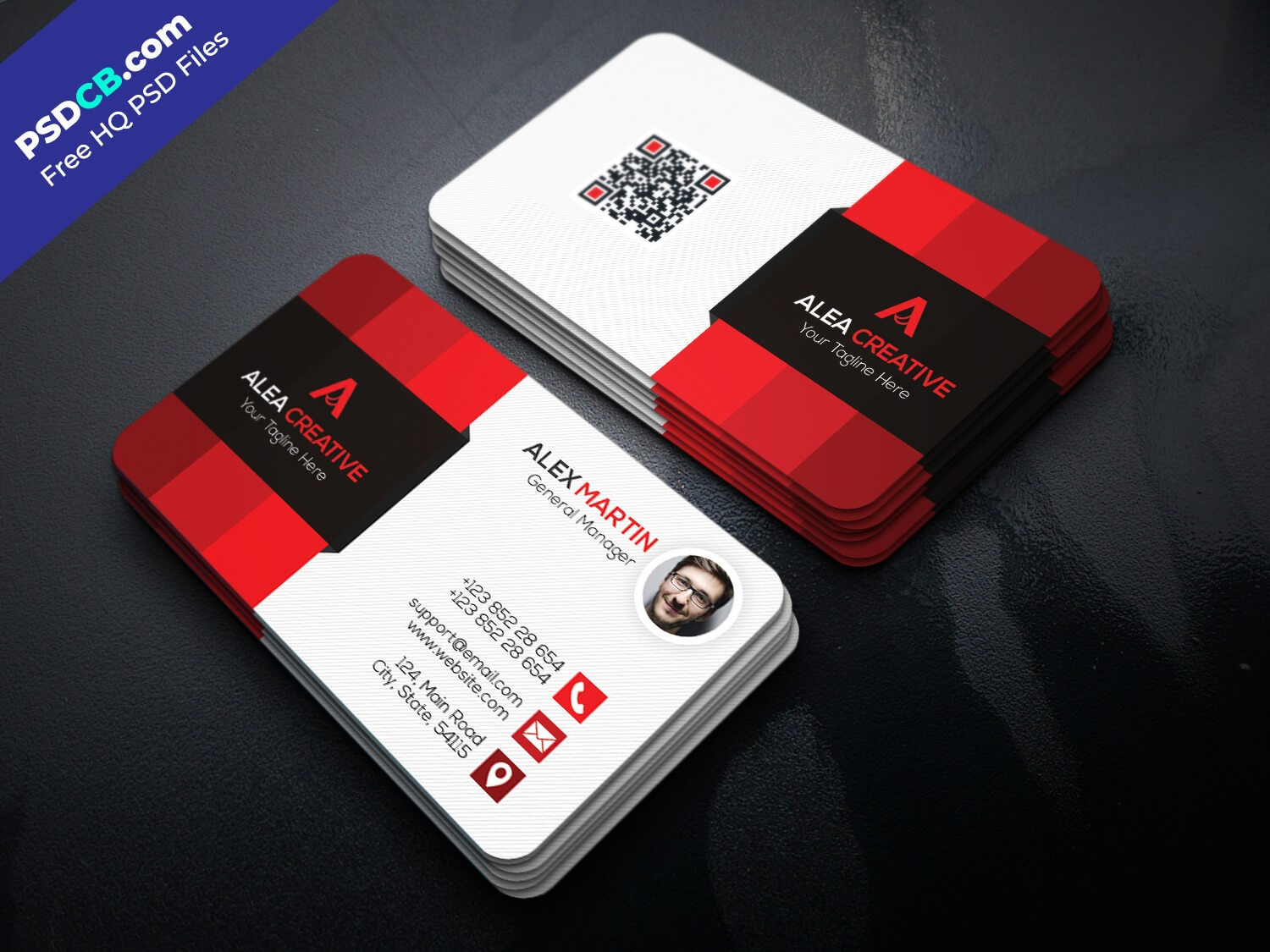 Vector Abstract Creative Business Cards Set Template Inside Visiting Card Templates Psd Free Download