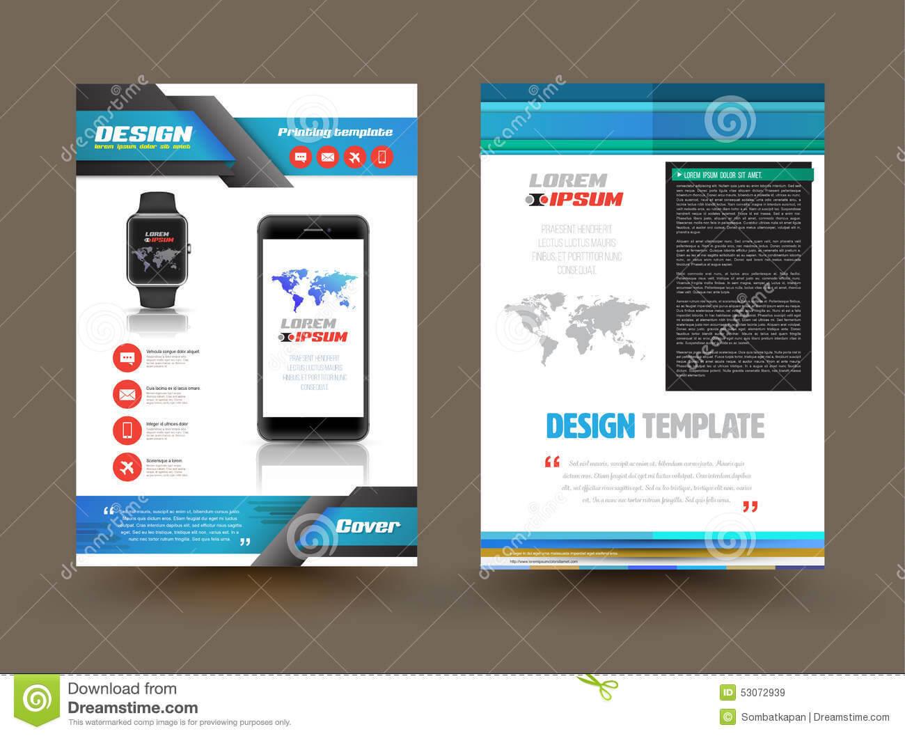 Vector Brochure Template Design For Technology Product Pertaining To Product Brochure Template Free