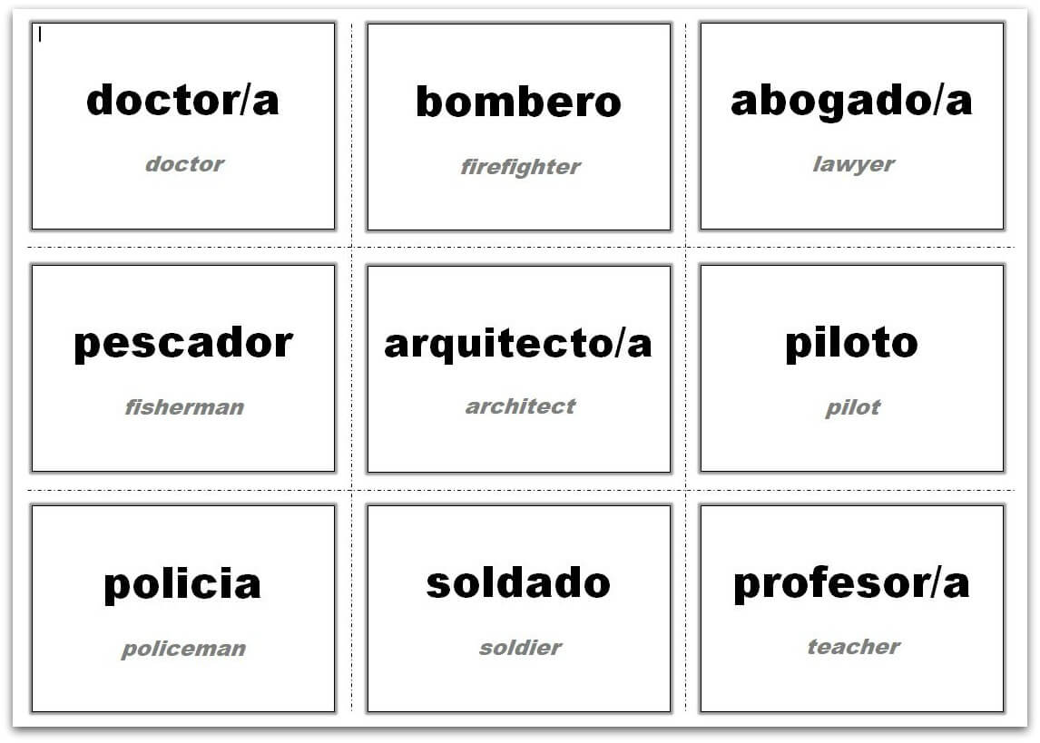 Vocabulary Flash Cards Using Ms Word Within Index Card Template Open Office
