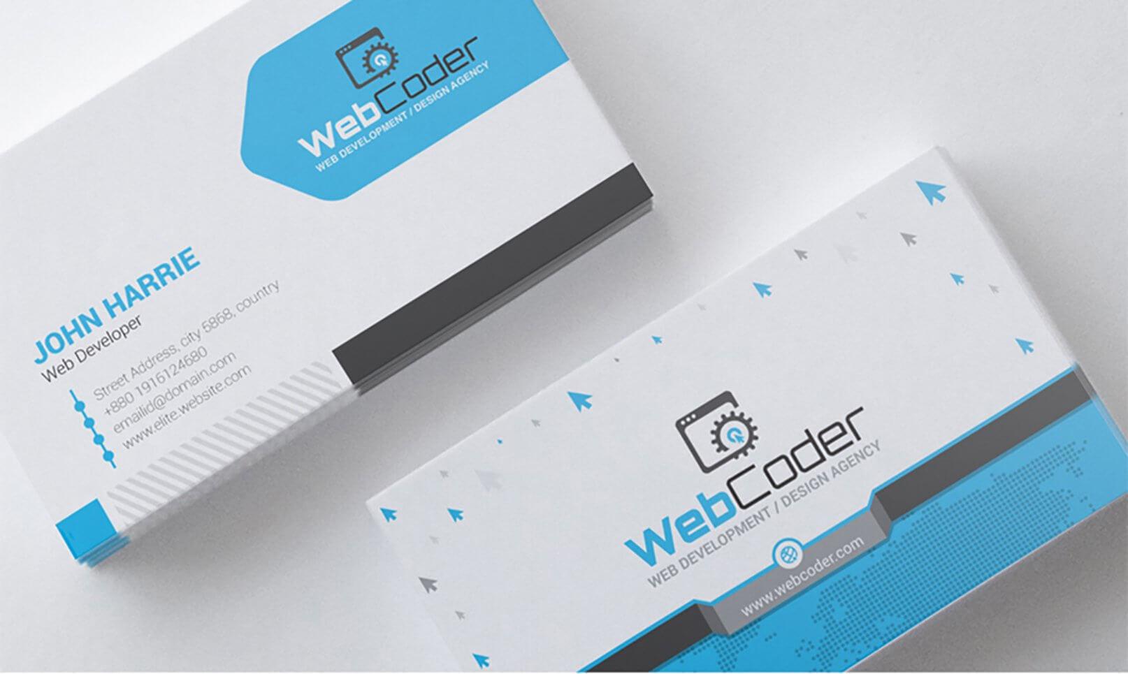 Website Design Business Cards - Calep.midnightpig.co Regarding Web Design Business Cards Templates