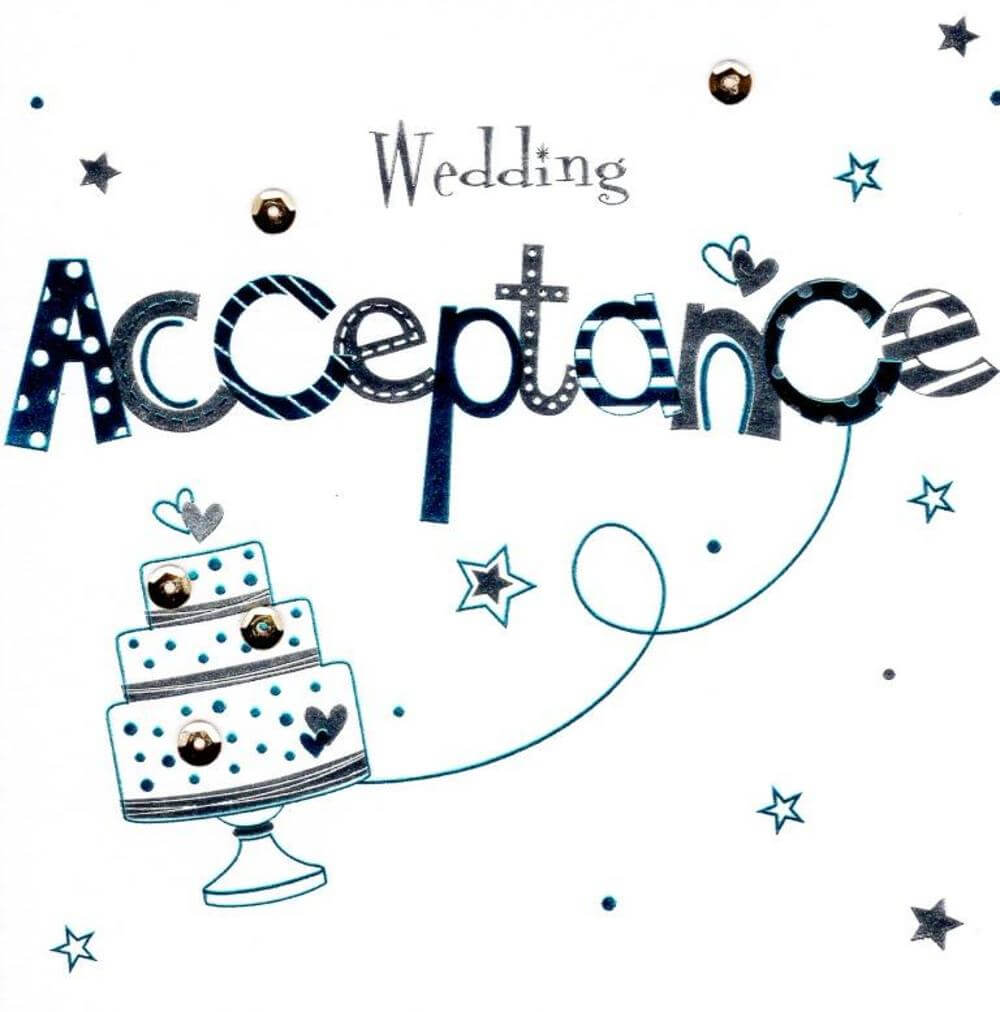 Wedding Acceptance Template Free ] - Wedding Invitations Intended For Acceptance Card Template