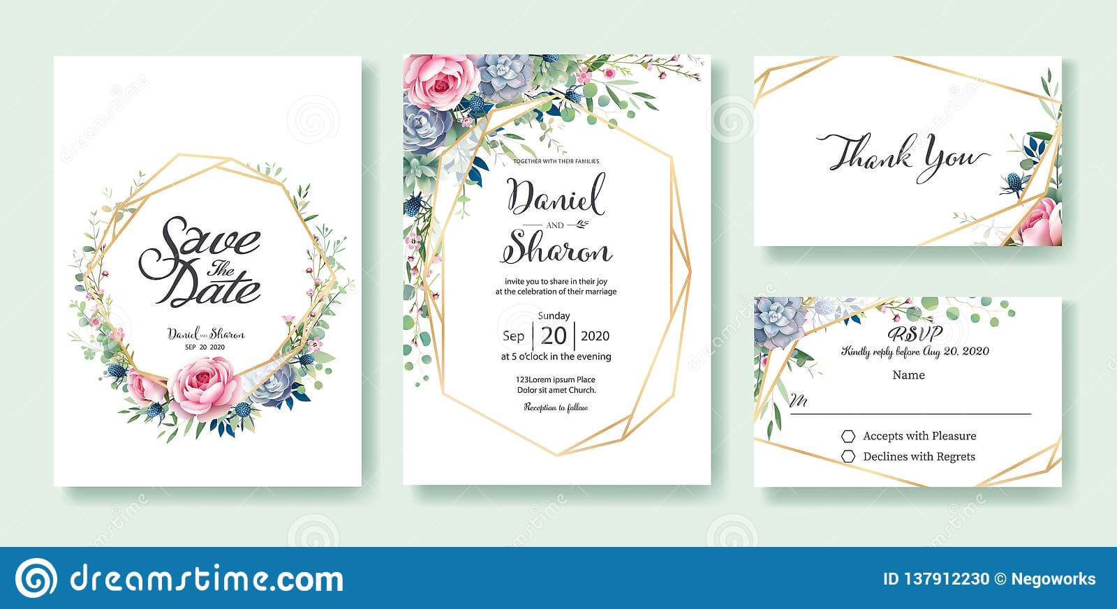 Wedding Invitation, Save The Date, Thank You, Rsvp Card For Free Printable Wedding Rsvp Card Templates