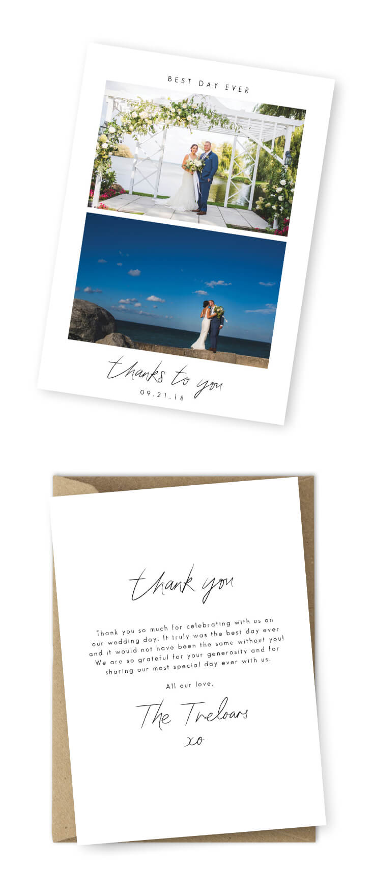 Wedding Thank You Cards Template - Calep.midnightpig.co ...