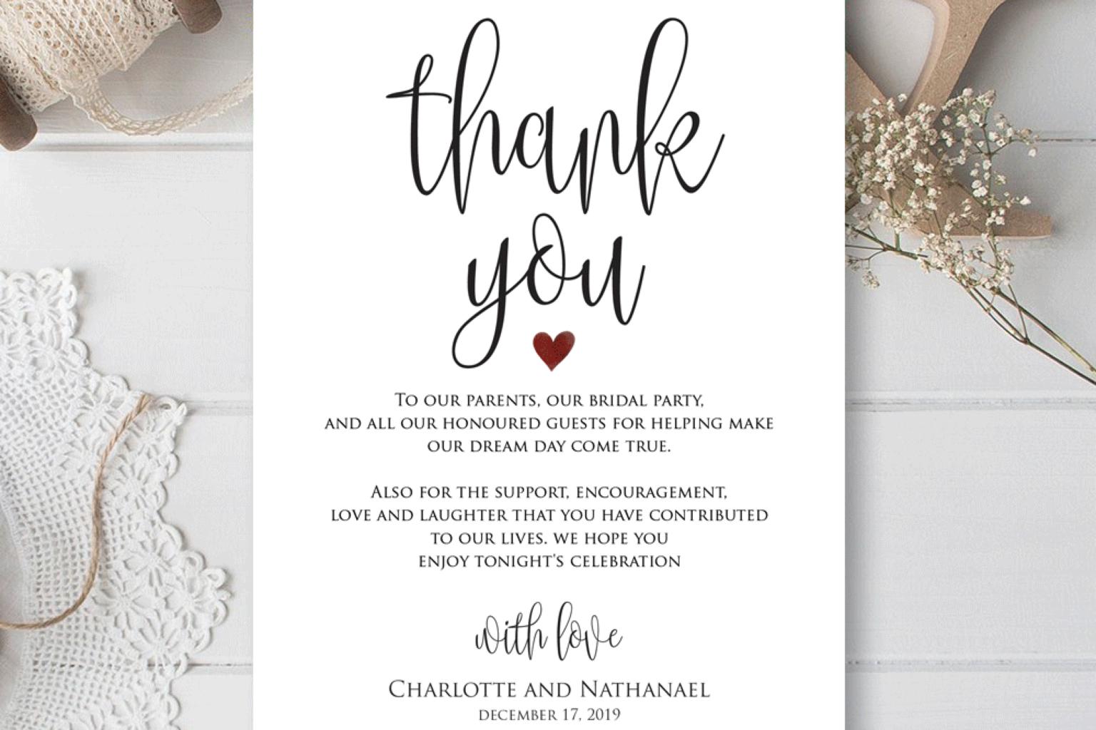 wedding thank you cards template  calepmidnightpigco
