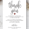 Wedding Thank You Cards Template – Calep.midnightpig.co Throughout Thank You Note Card Template