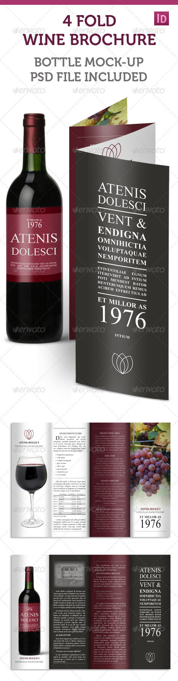 Wine Brochure Templates From Graphicriver Inside Wine Brochure Template