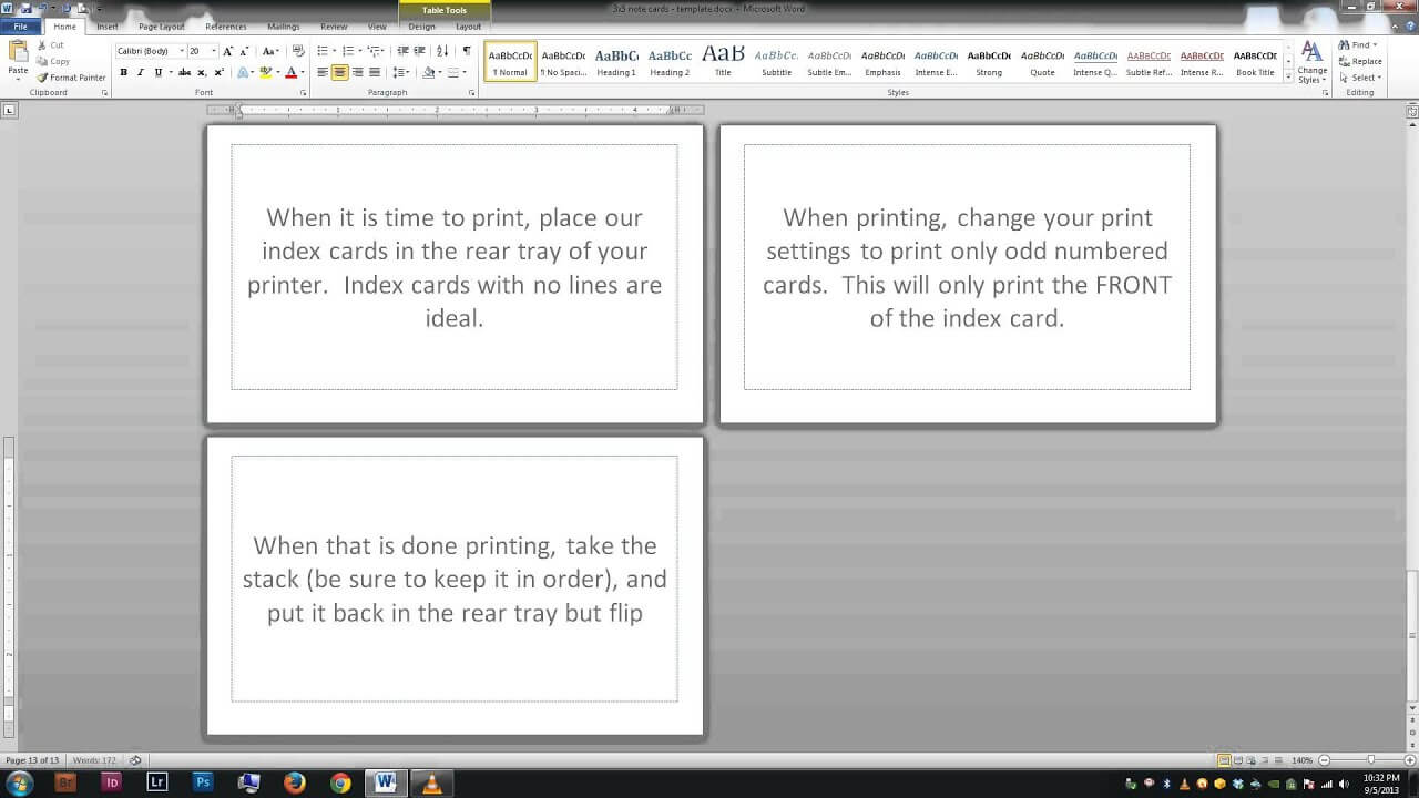 Word Template For Index Cards - Dalep.midnightpig.co In Word Template For 3X5 Index Cards