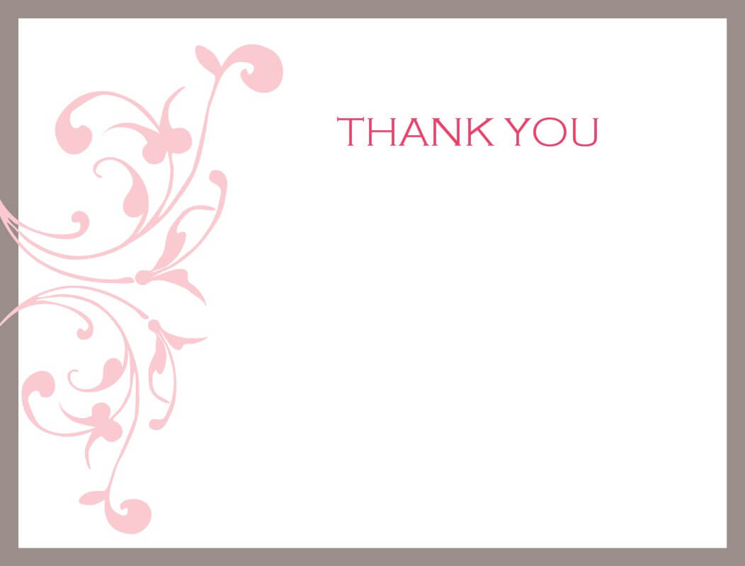 Word Thank You Card Template - Dalep.midnightpig.co For Powerpoint Thank You Card Template