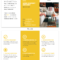 Yellow Real Estate Informational Tri Fold Brochure Template With Regard To Brochure 4 Fold Template