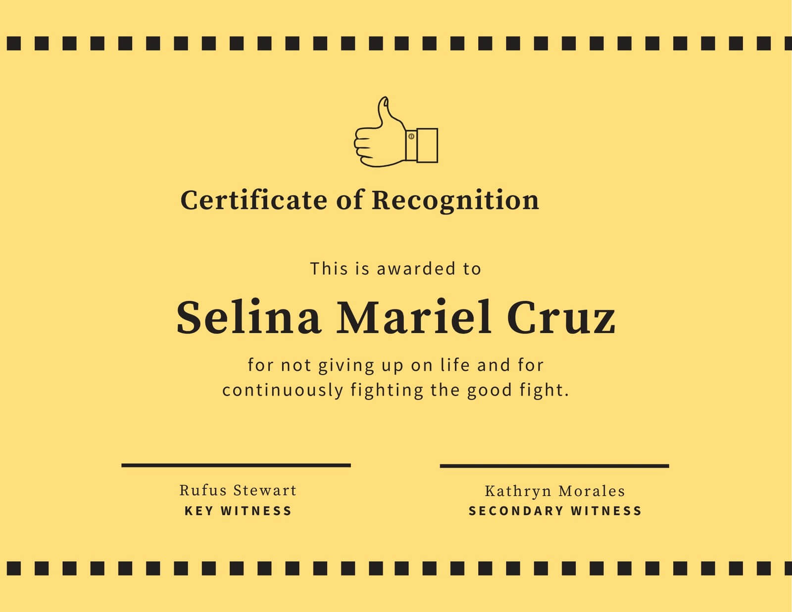 Yellow Thumbs Up Funny Certificate - Templatescanva With Regard To Funny Certificate Templates