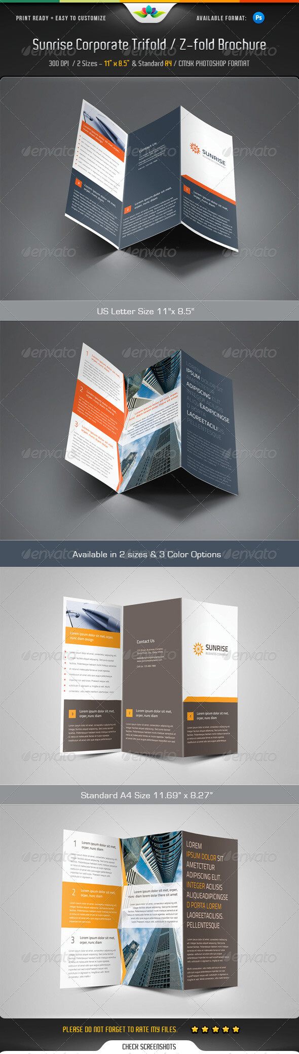 Z Fold Brochure Templates From Graphicriver With Regard To Z Fold Brochure Template Indesign